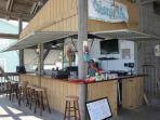 Cabana Cafe' & Bar on our private beach pavilion