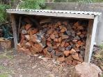 Well stocked wood shed for cold winter nights