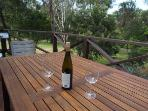 Beautiful place to sit and soak up the Grampians atmosphere watching kangaroos with a glass of wine