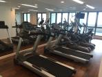 A fully equipped gym on the 4th floor