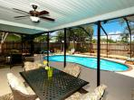 Huge Screened-in Patio and Pool