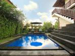 Private pool for upper-level studio
