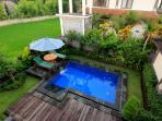 Private pool for ground-floor studio