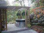 2 person hot tub in an amazing setting