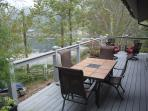 Front deck overlooking the lake