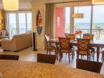 Spacious Dining/Living Room Area with Beautiful Views of Clearwater Beach/Flat Screen Cable TV