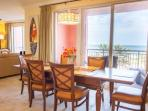 Spacious Dining Area with Seating for 6. Enjoy a Savory Meal while gazing out into the Crystal Blue-Green Waters of...
