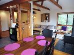 Hummingbird House, Open Living Area, Sonoma County, CA