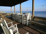 Shared lower oceanfront deck