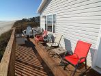 Oceanfront Deck with Private Beach Access