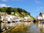 Photos of picturesque Polperro in Cornwall taken within 2-3 mins walk of Anchor cottage