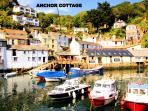 Anchor is located overlooking the beautiful historic harbour of Polperro
