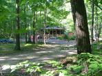 Secluded cabin on lovely wooded 3.5 acre lot.