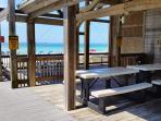 Picnic area on the Private Beach Pavilion