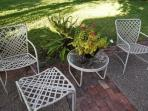 Patio available to guests.