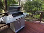 New well maintained BBQ on the front deck