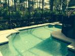 Covered lanai with Private heated pool.