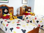 Beautiful decorated kids bedroom with TV/DVD