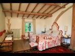 Master Bedroom with King Bed, en-suite bathroom and walk-in closet (1st Floor)