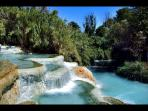 Saturnia natural hot springs and spa, about 50 minutes away from the villa..