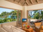 Silent Waters Villa guest suite 5 living room and sundeck