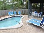 Multiple Loungers for Pool Area