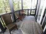 Side Porch Seating off Dining Room