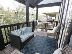 Multiple Seating Options on Living Room Porch