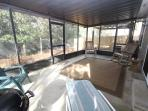 Variety of Seating Choices on Screened Porch