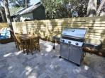 Outdoor Dining Area and Gas Grill