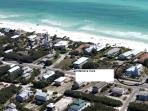 Aerial Shot Showing Proximity to Beach