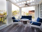 Second Story Balcony - Comfortable Seating