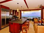 Kitchen and Living Area with View