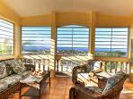 Upstairs porch with ocean views