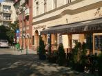 Ferenc square with coffee, restaurants few steps