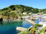 Photos of picturesque Polperro in Cornwall taken within 2-3 mins walk of The Anchorage