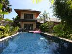 Larger house with private pool and tropical garden