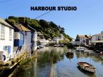 Harbour Studio is located overlooking the historic, picturesque harbour of Polperro