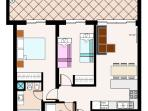 Layout plan of the apartment