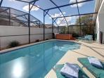 South facing pool deck