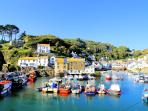 Photos of picturesque Polperro in Cornwall taken within 1-2 mins walk of Sunny Corner