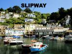 Slipway is located overlooking the historic, picturesque harbour of Polperro