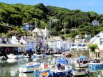 Photos of picturesque village of Polperro in Cornwall taken within 2-3mins walk of Kirk House
