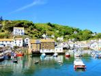 Photos of picturesque village of Polperro in Cornwall