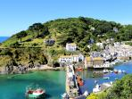 Photos of picturesque Polperro in Cornwall taken within 2-3mins walk of The Shell House