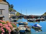 Photos of picturesque village of Polperro in Cornwall taken within 1-2 mins walk of Kirk House