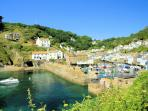 Photos of picturesque village of Polperro in Cornwall taken within 1-2 mins walk of Minnies Cottage