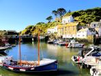 Photos of picturesque village of Polperro in Cornwall taken within 3-4 mins walk of Oversteps