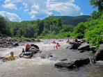 Tubing the nearby Esopus River which is also one of the finest trout fishing streams in the country