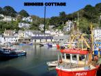 Photos of picturesque village of Polperro in Cornwall taken within 3-4 mins walk of Minnies Cottage